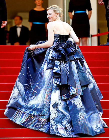 Cate Blanchett in a dramatic Giles gown at the Carol premiere.