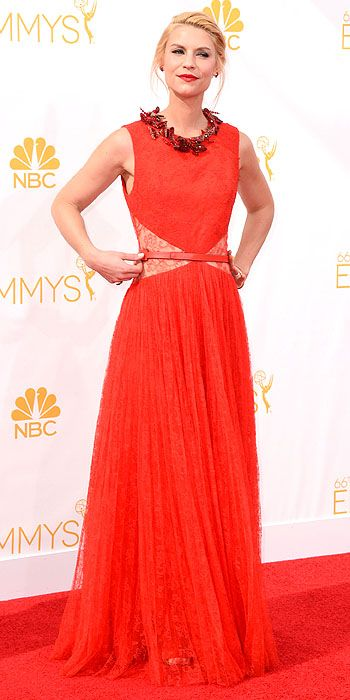 Claire Danes opted for a beautiful Givenchy dress that had so much potential but the fit threw us off.