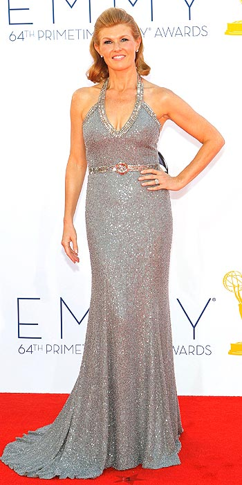 Emmy 2012 Worst Dressed - Connie Britton's Andrew Gn sequin gown could have done without the high waisted belt