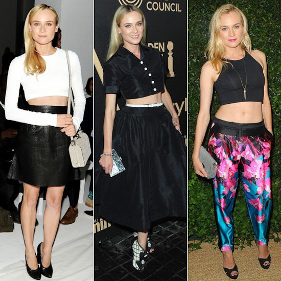 Diane Kruger also loves the crop top trend