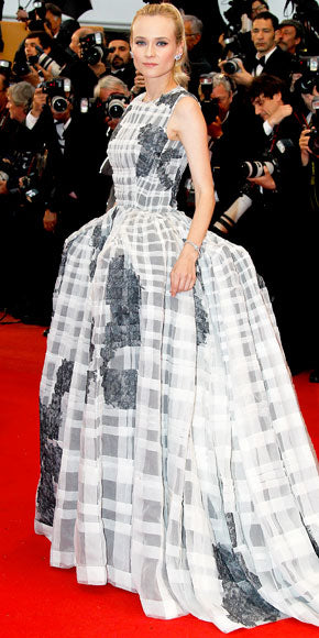 Diane Kruger closed out the Cannes Film Festival in a dramatic and voluminous Christian Dior Couture ball gown