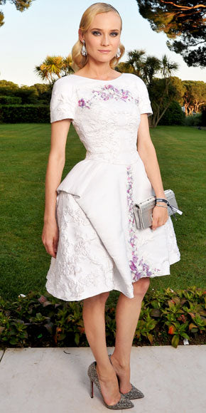 Diane Kruger hits another high note in a white Chanel Resort 2013 number