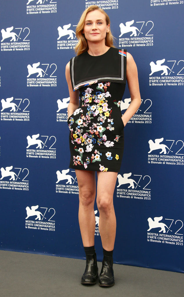 Diane Kruger in a Preen mini.