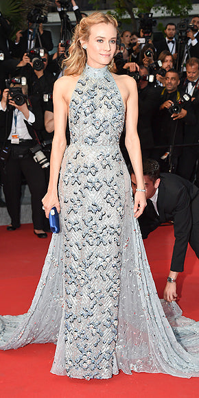 Diane Kruger was pure glamour in a Prada halter gown