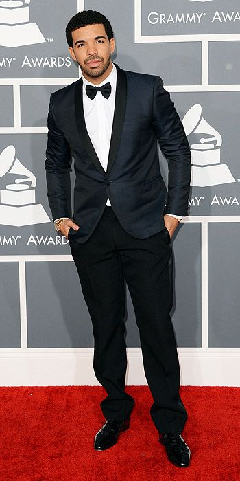 Drake cleaned up in a tuxedo