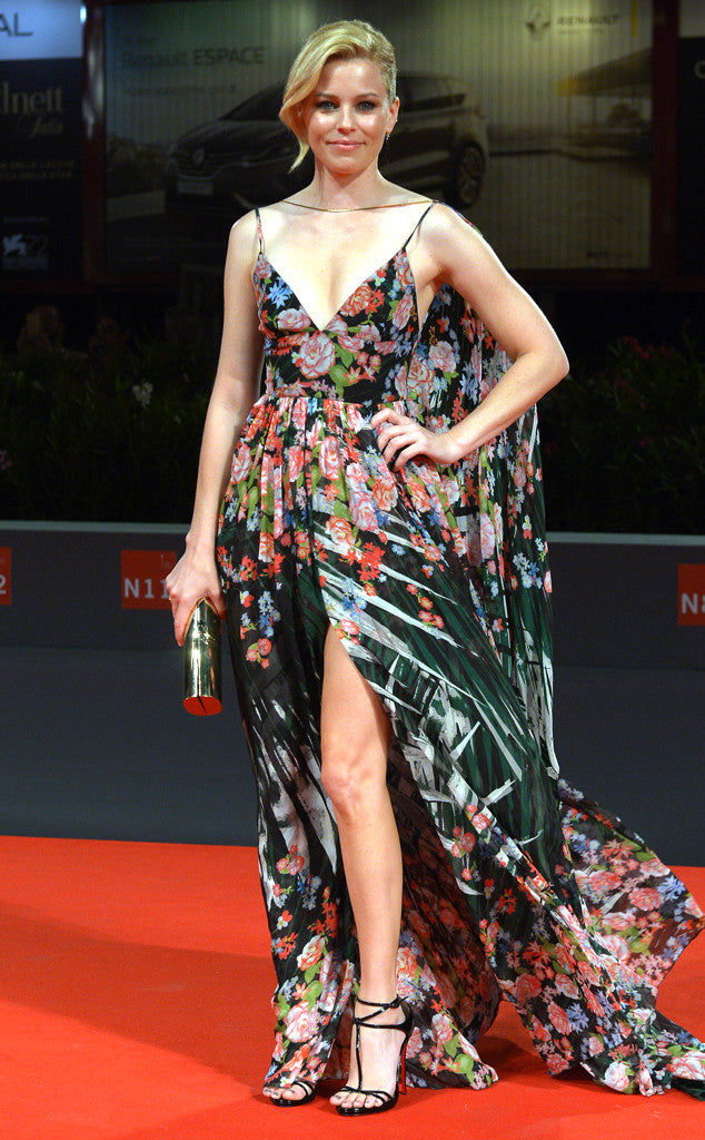 Elizabeth Banks in a gorgeous floral Elie Saab gown.