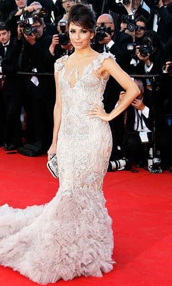 Eva Longoria attended the Cannes premiere of Moonrise Kingdom in Marchesa