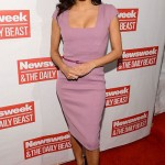 Eva Longoria looked lovely in lavender at a D.C. event