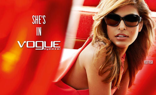 Vogue Eyewear goes retro chic with Eva Mendes as cover girl