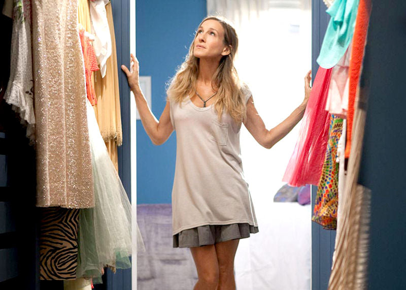 Even Carrie Bradshaw had to clean her closet every once in a while.