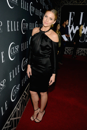 Former One Tree Hill Actress Shantel VanSanten was chic in black.
