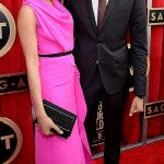 Freida Pinto went with hot pink Roland Mouret