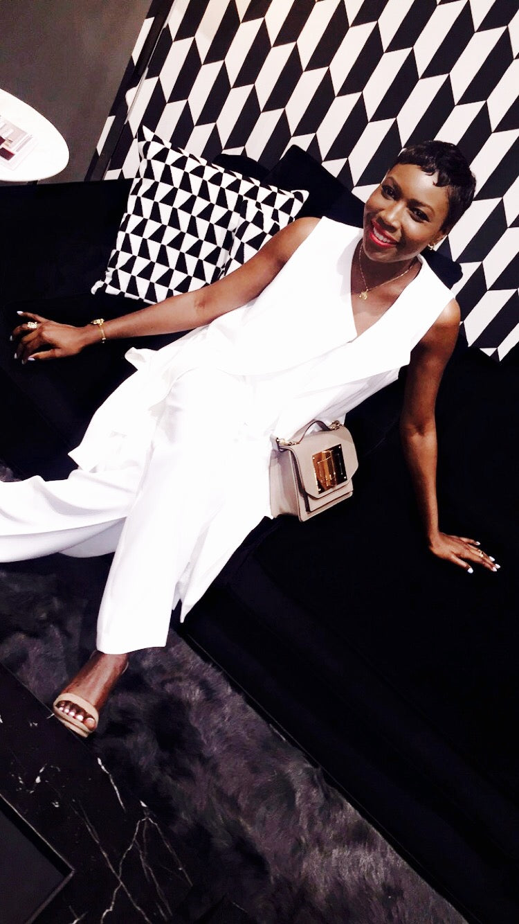 Wemi Opakunle at Bvlgari / Maxalto Event in Beverly Hills. Bvlgari's signature suites were reproduced at the Maxalto showroom.
