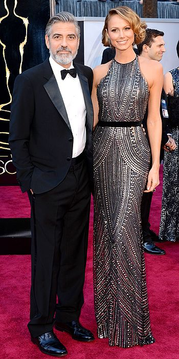 Stacy Keibler looked beautiful in Naeem Khan and Lorraine Schwartz jewelry
