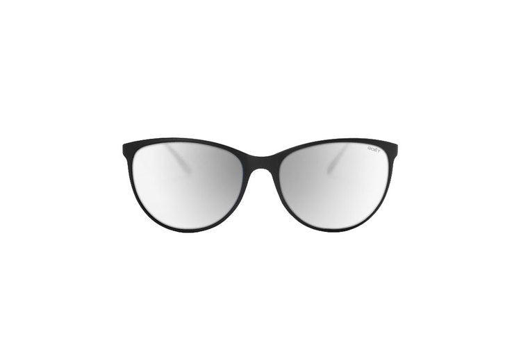 Goêt Cat Eyes Silver Sunglasses | Front View