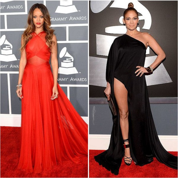 Grammy 2013 Fashion - Rihanna stunned while J.Lo unfortunately disappointed