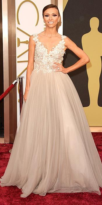 Gulianna Rancic in an embroidered and tulle gown