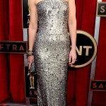 Helen Hunt in metallic Romona Keveza