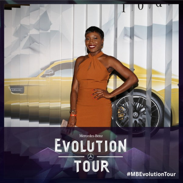 Blogger, Wemi Opakunle attends Mercedes-Benz 2015 Evolution Tour In Los Angeles.