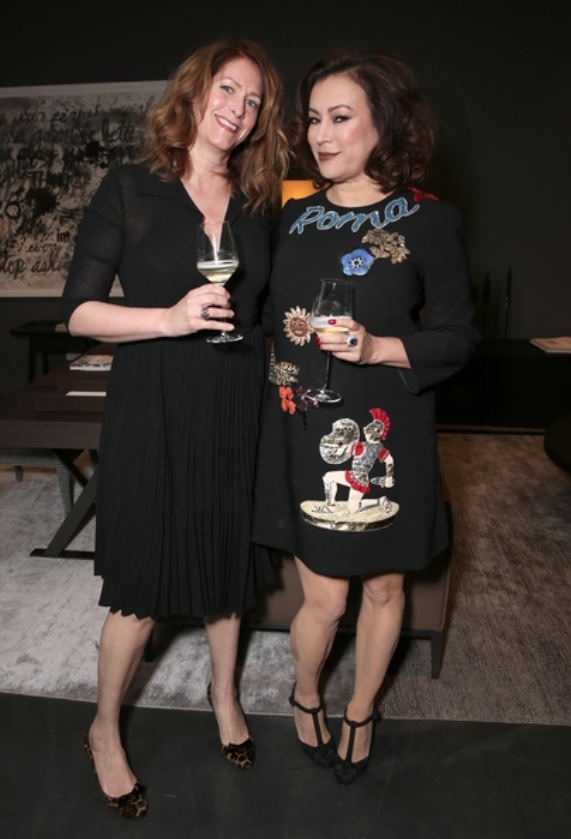 Jennifer Tilly attended the Bvlgari / Maxalto event in Dolce and Gabbana.