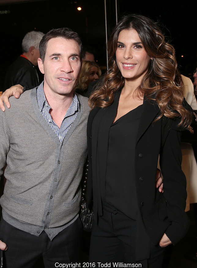 Italian Host Elisabetta Canalis also attended with husband, Brian Perri.