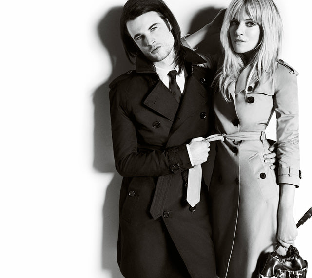 It's all about the trench - Sienna Miller and Tom Sturridge were shot by famed photographer Mario Testino