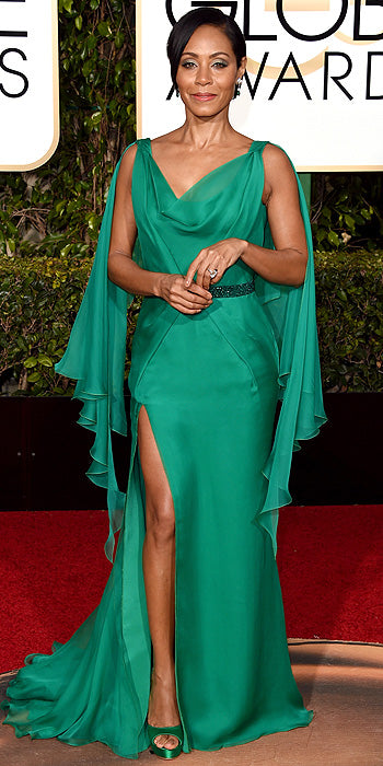 Jada Pinkett Smith in an emerald green number. (Photo by Jason Merritt/Getty Images)