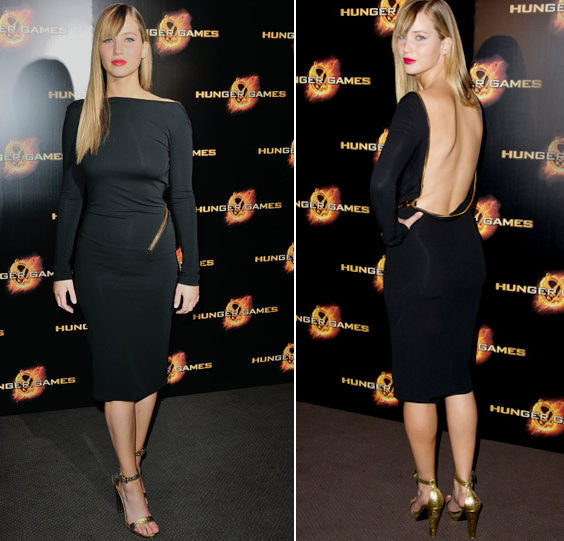 4579d6df6c2 Who wore it best  Two Jennifers take on Tom Ford s sexy backless ...