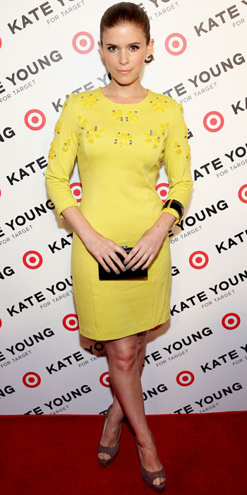 Kate Young attended the Young for Target party in an embellished yellow sheath