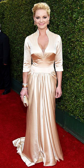 We were so disappointed in Katherine Heigl's matronly look that we didn't know what category to put it under. We want to know what happened to that gorgeous girl that took the red carpet by storm in Escada just a few years ago.