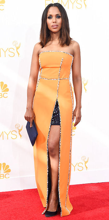 Another dress whose fit missed the mark was Kerry Washington's Prada number. This just reminds us that tailoring is everything.