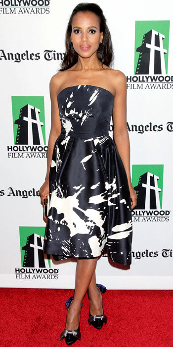 Kerry Washington made a splash in Monique Lhuillier at the Hollywood Film Awards