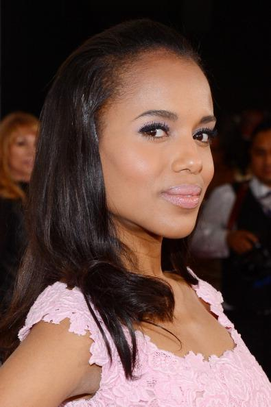 Natural Beauty - Kerry went for light pink lips and flowing hair