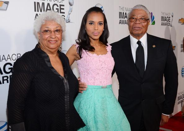 Kerry Washington was accompanied by her parents