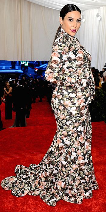 The worst dressed award of the night went to Kim Kardashian who made her Met Gala debut in head to toe floral print Ricardo Tisci