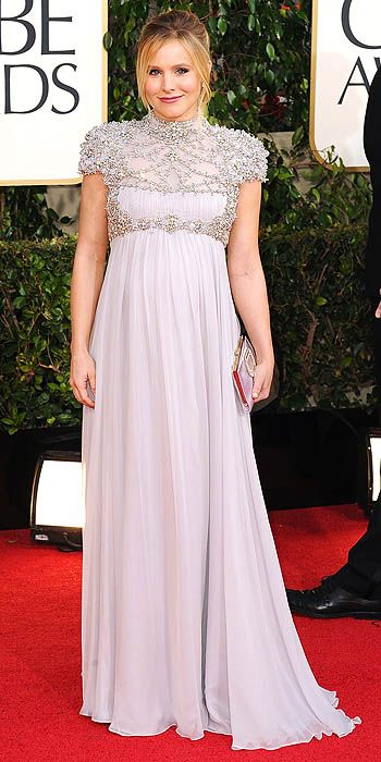 2013 Golden Globes - Kristen Bell glowed in lavender