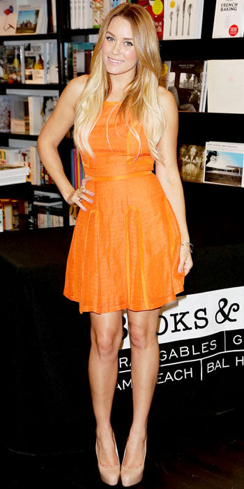 Lauren Conrad brought some serious color to her Miami book signing