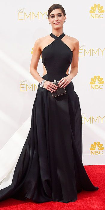 Lizzy Caplan looked elegant in Donna Karan Atelier