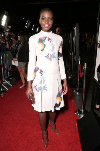 The actress goes with a playful unicorn print at an industry event