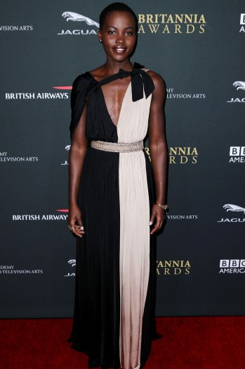 Sporting a Grecian Lanvin number at the Brittania Awards.