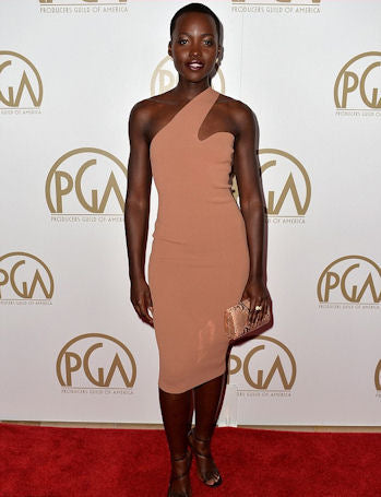 In a one shouldered Stella McCartney number at the Producers Guild of America Awards.