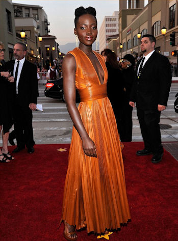 She glowed in burnt orange Givenchy at the NAACP Awards.