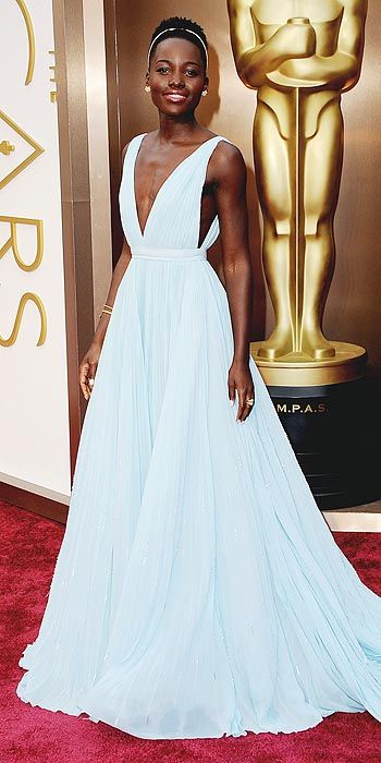 Lupita is a princess in baby blue