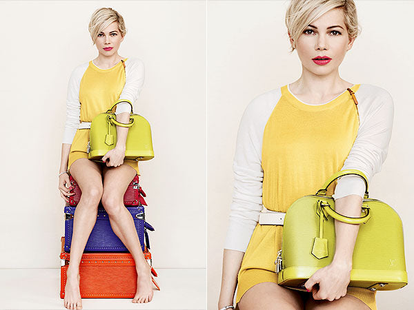 Michelle Williams brings pops of color to Louis Vuitton campaign