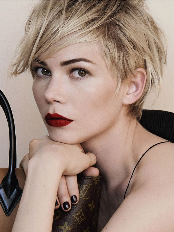 Michelle Williams's choppy bob was a starting point on my hair vision board. Gilmore explained that my infatuation was actually with the messy way the hair was styled rather than the bob itself.