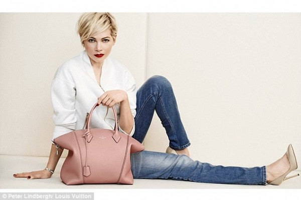 Michelle Williams goes casual chic for Louis Vuitton's latest spring collection.