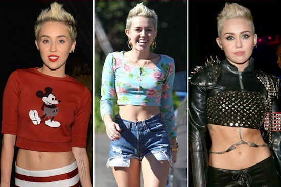 Miley Cyrus  loves her crop tops