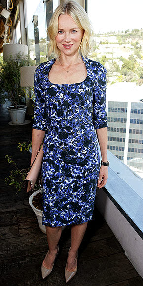 Naomi Watts also attended the event in a printed dress