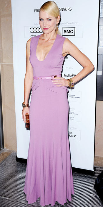 Naomi Watts attended the Toronto premiere of The Impossible in a gorgeous lilac Elie Saab gown