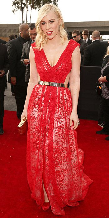 Natasha Bedingfield in red